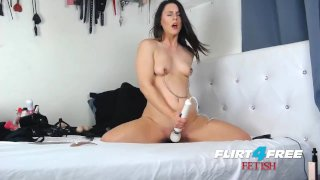 Katharine Cane Gets Her Fetish On Anal Fucking a Dildo Machine
