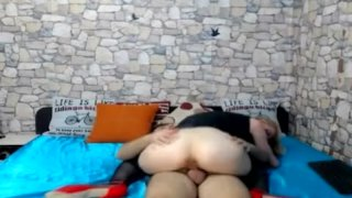 Hot Skinny Babe Ride and Suck a Hard Cock on Cam