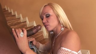 Curvy Blonde Gets Her Holes Stretched