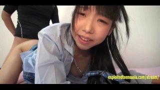 Аматор японка в колледже Мики выебанна в униформе без цензуры