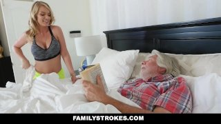 FamilyStrokes - Sexy Housewife Fucks Her Stepson