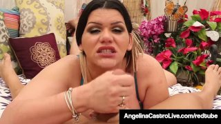 Cuban BBW Angelina Castro Blows A Jogger's Cock She Just Met