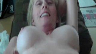 Nice Creampie For Grandma Slut