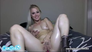 Ash Hollywood Sexy Big Ass Blonde Rubbing and Masturbating Her Wet Pussy