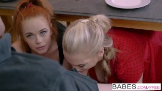 Step Mom Lessons - Ella Hughes and Rebecca Moore share cock