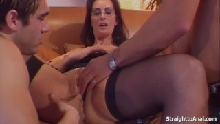 Double Penetration Anal And Pussy Fucking