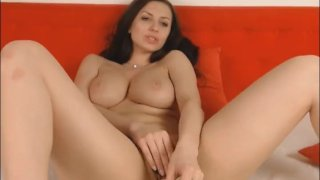 Hot Brunette Enjoys Playing Her Wet Cunt