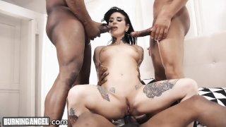 Joanna Angel BBC Gangbang- One HUGE Dick Per Hole!