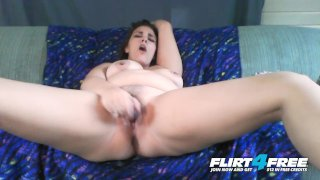 Flirt4Free - Horny Nicky - Chubby Babe w Big Natural Tits Squirts