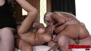 Luscious babe Britney Amber fed cum in mesmerizing orgy