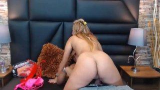 Blonde Spanish Babe Gets Drilled Behind After Sucking