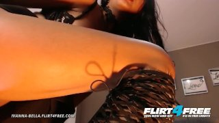 Ivanna BellaBisexual Brunette Babe Plays With Both Holes