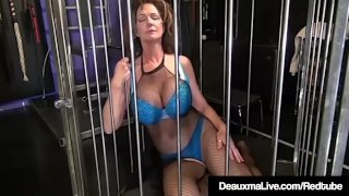 Deauxma Caged & Pleasured By Sally Dangelo & Nina Hartley!