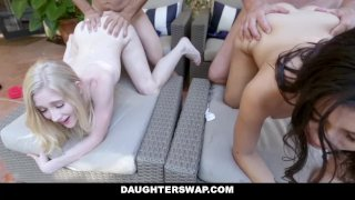 DaughterSwap - Emma Starletto and Natalie Brooks Fuck Grandpas