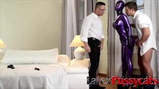 Latex Lucy in a Threesome at LatexPussyCats
