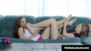 Foot Fetishists Kimber Lee & Ashlynn Taylor Tease With Feet!