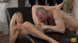 OLD4K. Claudia Mac reaches orgasm thanks to skilled mature