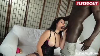 LETSDOEIT - Busty Brunette Anal Fucked By a BBC At Casting