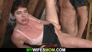 Horny mom seduces son-in-law into cheating sex