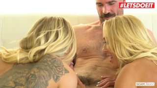 LETSDOEIT - Super Hot MILF Brandi Love and Her BFF Scam and Fuck Rich Guy