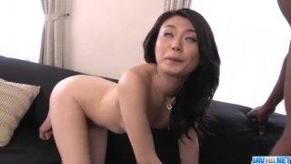 Rough interracial trio with sweet Kyoko Nakajima - More at javhd net