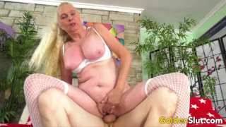 Cock Hungry Blonde GILF Sara Skippers Rides a Younger Man