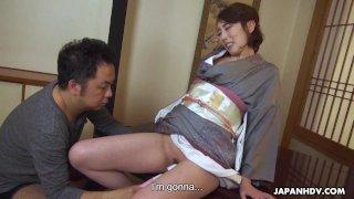 Japanese kimono lady, Aya Kisaki is moaning, uncensored