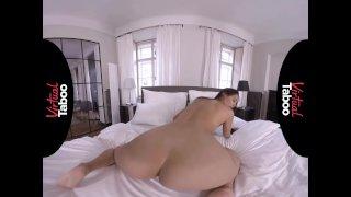VIRTUAL TABOO - Big Booty Brunette Cums Hard