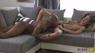 BLACK4K. Each inch of huge dick brings young babe Monique Woods a lot