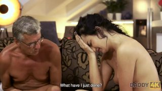 DADDY4K. Brilliant brunette Erica decides to have sex with mature