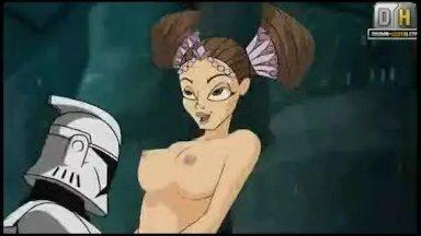 Star Wars cartoon porno video