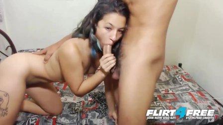 Flirt4Free - Fox & Latin - Sexy Latina Gets a Big Hard Cock and Creampie