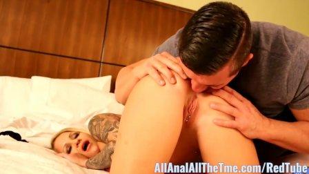Tattoo babe Daisy Monroe Gets Ass Spread for AllAnal!