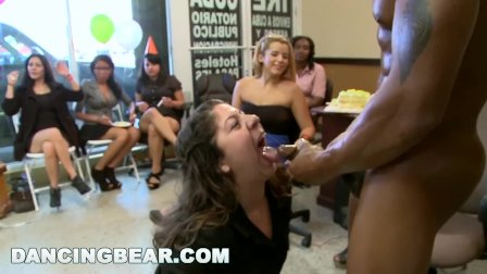 DANCING BEAR - This Birthday Party Gets Turnt Up By Big Dick Male Strippers