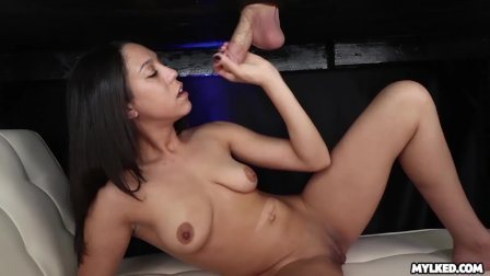 DRENCHED in an avalanche of CUM - Amber Skye Milking Table
