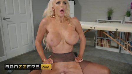 Big tit phat ass blonde boss Nicolette Shea needs some stress - Brazzers
