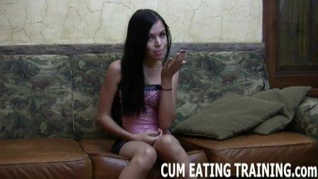 CEI Femdom And POV Cum Eating Porn