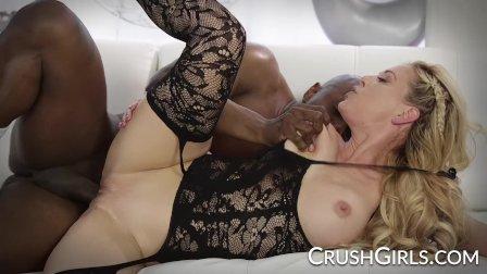 Seductive MILF Cherie Deville takes on a big black cock