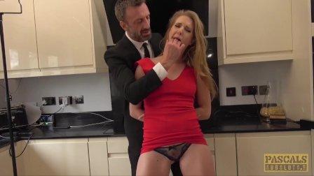 PASCALSSUBSLUTS - Lady Ashley Lane dominated in the kitchen