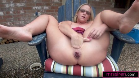 I Fist Myself and Squirt with a Huge Toy Outdoors