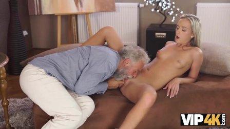 VIP4K. Old man is happy to enjoy tender body of student Shanie Ryan
