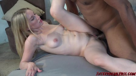 Tight blonde Riley Reyes pounded after sucking monster BBC