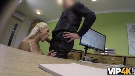 VIP4K. La bella Blanche succhia il cazzo e si fa scopare la femminuccia per