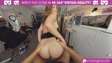 VR BANGERS Hot hairdresser wants cock instead of money