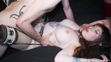 Big tit tattooed amateur cant get enough of his big cock