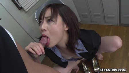 Japanese secretary  Asuka Kyono sucks dick  uncensored