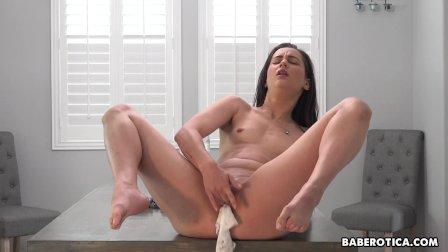 Solo gal  Georgia Jones likes panties insertion  in 4K