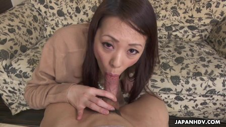 Japanese housewife  Asuka is pleasing a guy  uncensored