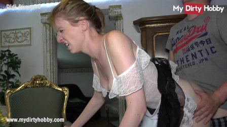 MyDirtyHobby - Housemaid swallows a cumshot from her boss while his wife i