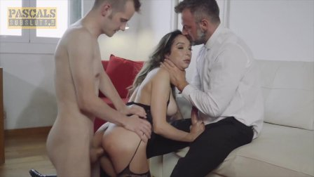 PASCALSSUBSLUTS - Young Busty Francys Belle Dominated by 2 Guys